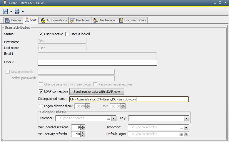 LDAP Connection Setup